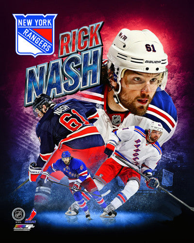 "Rick Nash ""Red White and Blue"" New York Rangers Hockey Premium Poster Print - Photofile 16x20"