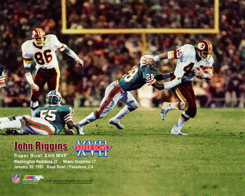 John Riggins Super Bowl XVII (1983) MVP Washington Redskins Premium Poster Print - Photofile
