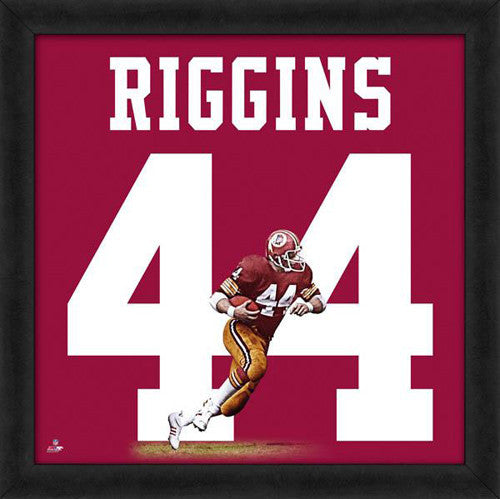 "John Riggins ""Number 44"" Washington Redskins NFL FRAMED 20x20 UNIFRAME PRINT - Photofile"