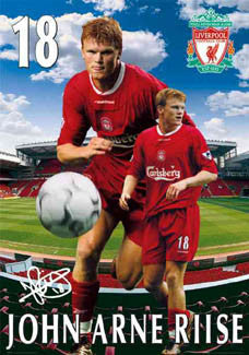 "John Arne Riise ""Anfield Star"" Liverpool FC Poster - GB 2003"