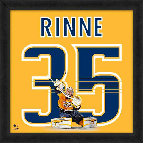 "Pekka Rinne ""Number 35"" Nashville Predators NHL FRAMED 20x20 UNIFRAME PRINT - Photofile"