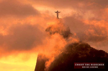 Christ the Redeemer Cristo Redentor Statue in the Clouds, Rio de Janeiro Poster - Pyramid Posters