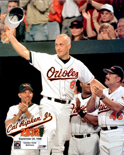 "Cal Ripken Jr. ""2,632"" (1998) Premium Poster Print - Photofile Inc."