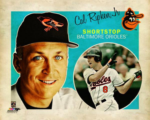 "Cal Ripken Jr. ""Retro SuperCard"" Baltimore Orioles Premium Poster Print - Photofile 16x20"