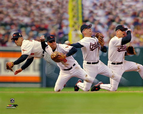 "Cal Ripken Jr. ""Stab and Throw"" (c.1999) Baltimore Orioles Premium Poster Print - Photofile Inc."