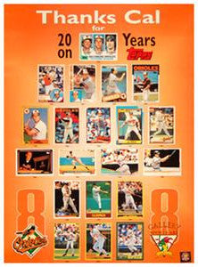 "Cal Ripken Jr. ""20 Years on Topps"" Baltimore Orioles Baseball Card Classics POSTER - Gallery of Sports Art 2001"