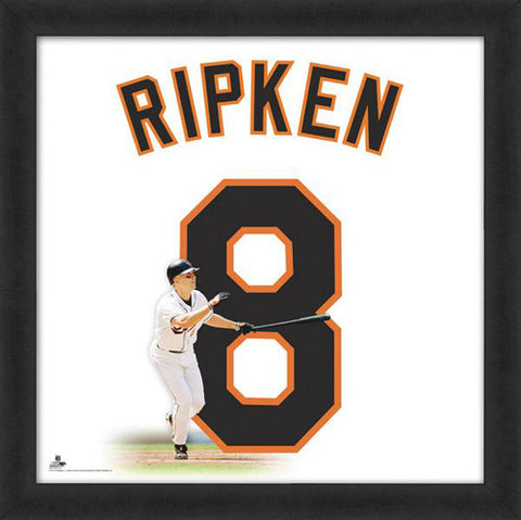 "Cal Ripken ""Number 8"" Baltimore Orioles FRAMED 20x20 UNIFRAME PRINT - Photofile"