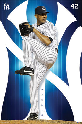 "Mariano Rivera ""Lights Out"" New York Yankees MLB Action Poster - Costacos 2013"