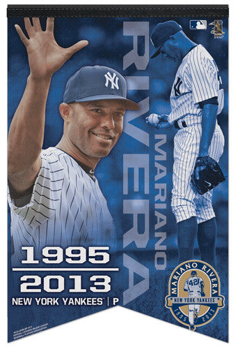 Mariano Rivera Final Season New York Yankees Premium Commemorative Felt Banner - Wincraft