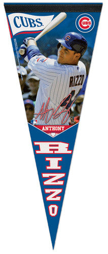 "Anthony Rizzo ""Signature"" Chicago Cubs Premium Felt Collector's Pennant - Wincraft 2013"
