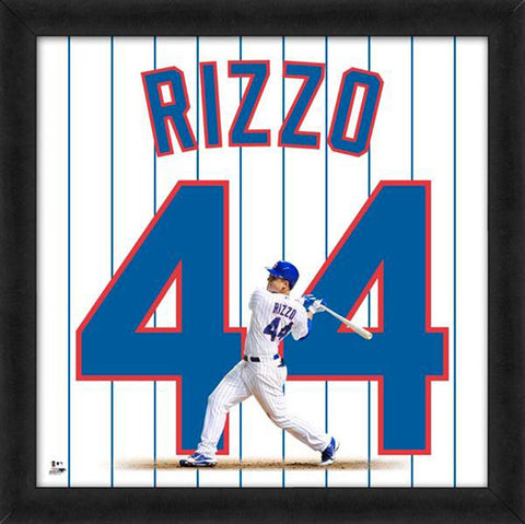 "Anthony Rizzo ""Number 44"" Chicago Cubs FRAMED 20x20 UNIFRAME PRINT - Photofile"