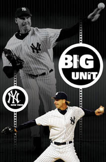 "Randy Johnson ""Big Unit: Pinstripes"" New York Yankees Poster - Costacos 2005"