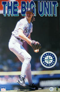"Randy Johnson ""The Big Unit"" Seattle Mariners Poster - Starline 1997"