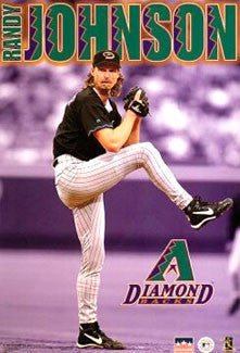 "Randy Johnson ""Gunslinger"" Arizona Diamondbacks Poster - Starline 1999"