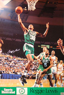 Reggie Lewis Boston Celtics Sports Illustrated Signature Series Poster - Marketcom 1990
