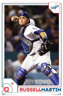 "Russel Martin ""Gunslinger"" Los Angeles Dodgers Catcher Poster - Costacos 2008"