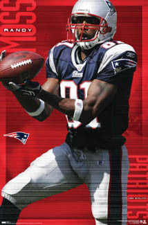 "Randy Moss ""Big Grab"" New England Patriots Poster - Costacos 2007"