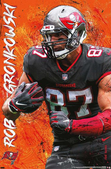 "Rob Gronkowski ""Buc Power"" Tampa Bay Buccaneers Official NFL Football Wall Poster - Trends International"