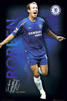 "Arjen Robben ""Signature Series"" Chelsea FC Poster - GB Posters 2005"