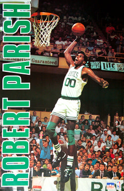 Robert Parish Boston Garden Slam Boston Celtics NBA Action Poster - Starline Inc. 1992