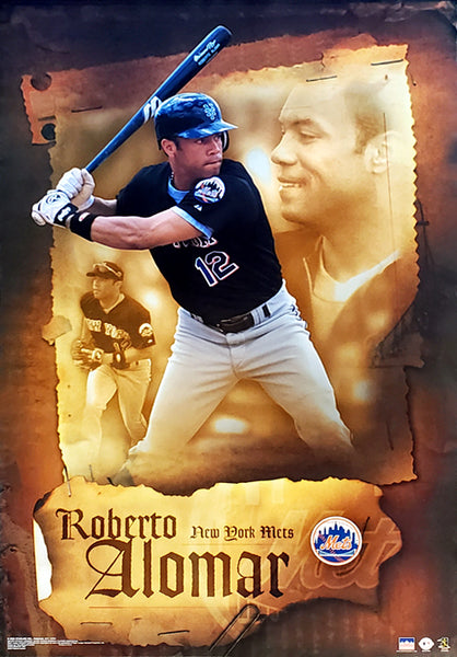 "Roberto Alomar ""Masterpiece"" New York Mets MLB Action Poster - Starline 2002"