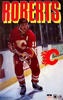 Gary Roberts Calgary Flames NHL Hockey Action Poster - Starline 1994