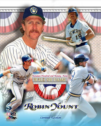 Robin Yount Milwaukee Brewers Hall of Fame Commemorative Premium Poster Print - Photofile Inc.