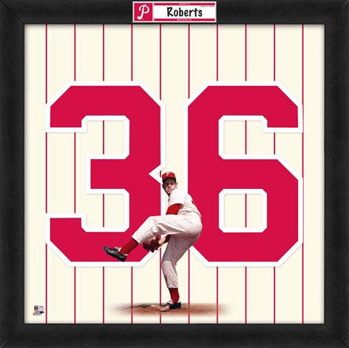 "Robin Roberts ""Number 36"" Philadelphia Phillies MLB FRAMED 20x20 UNIFRAME PRINT - Photofile"