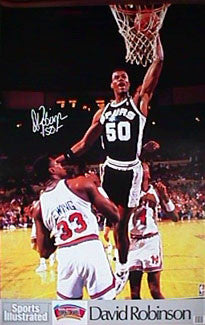 "David Robinson ""Rookie Slam"" San Antonio Spurs Sports Illustrated Poster - Marketcom 1990"