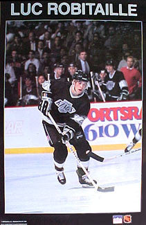 "Luc Robitaille ""Breakaway"" Los Angeles Kings Poster - Starline 1988"