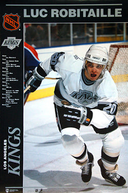 "Luc Robitaille ""Power Profile"" L.A. Kings Poster (1990) - Norman James Corp."