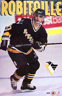 Luc Robitaille Pittsburgh Penguins NHL Action Poster - Starline 1995