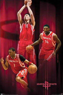 "Houston Rockets ""Power Trio"" (McGrady, Yao, Artest) Poster - Costacos 2008"