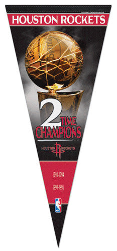 Houston Rockets 2-Time Champions EXTRA-LARGE Premium Felt Pennant