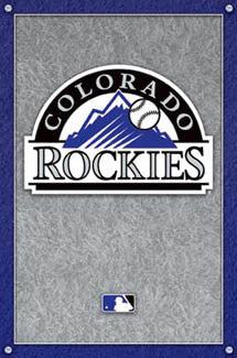 Colorado Rockies Official MLB Baseball Club Team Logo Poster - Costacos Sports