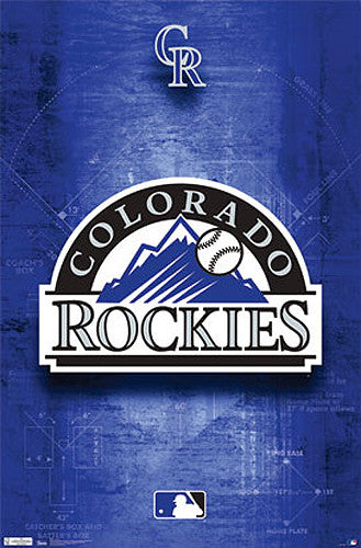 Colorado Rockies Official MLB Baseball Team Logo Poster - Costacos