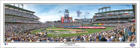 "Colorado Rockies ""Opening Day"" Coors Field Panoramic Poster Print - Everlasting Images"