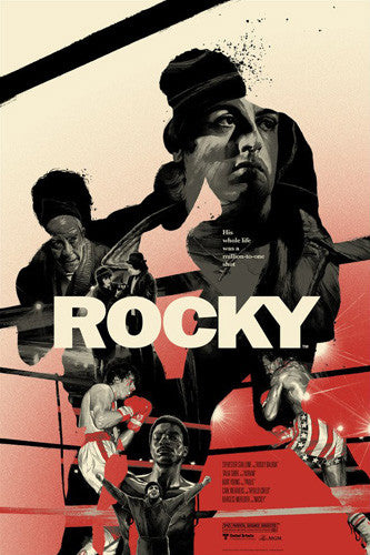 Rocky (1976) Official Limited-Edition /225 Tribute Movie Poster by Gabz - Grey Matter Art