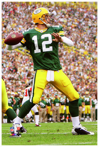 Aaron Rodgers Poster Perfection Collection Green Bay Packers Premium 24x36 Poster Print - Photofile