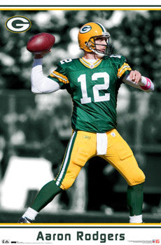"Aaron Rodgers ""Gunslinger"" Green Bay Packers Poster - Costacos 2011"