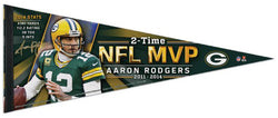 Aaron Rodgers 2-Time NFL MVP Green Bay Packers Premium Felt Collector's Pennant - Wincraft 2015