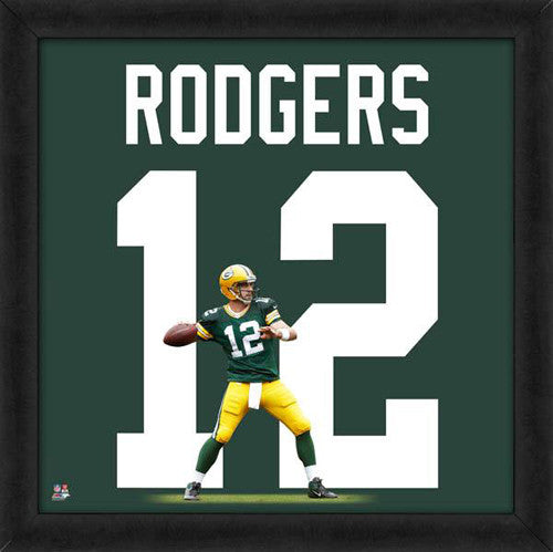 "Aaron Rodgers ""Number 12"" Green Bay Packers FRAMED 20x20 UNIFRAME PRINT - Photofile"