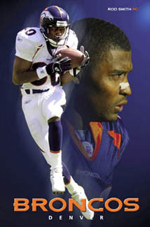 "Rod Smith ""Superstar"" Denver Broncos Poster - Costacos 2004"