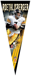 Ben Roethlisberger Limited-Edition Signature Series Premium Pennant