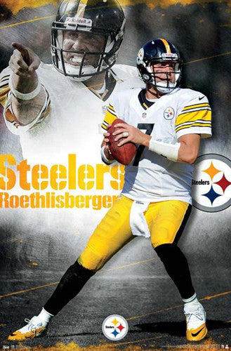 "Ben Roethlisberger ""Passion"" Pittsburgh Steelers NFL Action Poster - Costacos 2012"