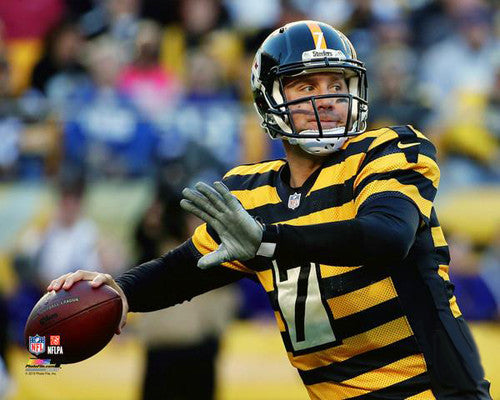 "Ben Roethlisberger ""Throwback"" (2014) Pittsburgh Steelers Premium Poster Print - Photofile 16x20"