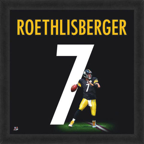 "Ben Roethlisberger ""Number 7"" Pittsburgh Steelers FRAMED 20x20 UNIFRAME PRINT - Photofile"