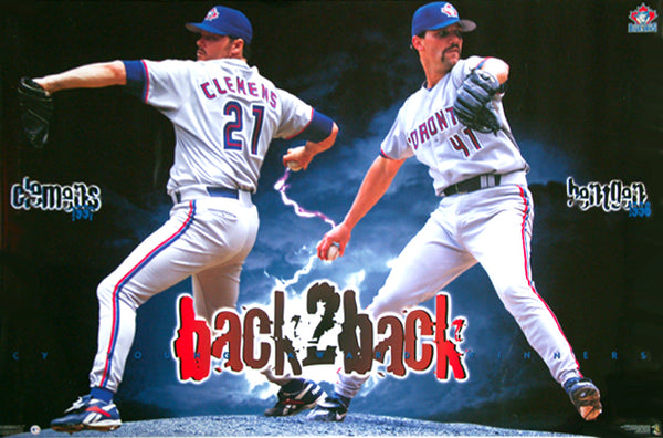 Roger Clemens and Pat Hentgen Back-2-Back Cy Young Winners Toronto Blue Jays Poster - Costacos 1998
