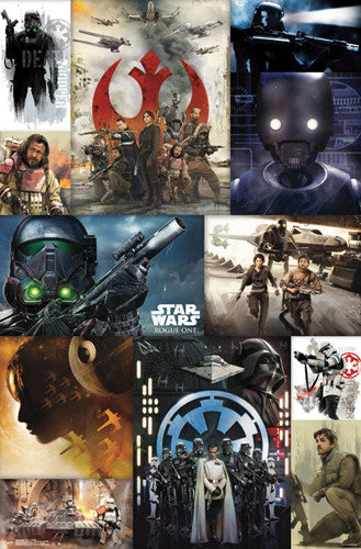 "Star Wars Rogue One ""Collage"" Official Poster - Trends 2016"