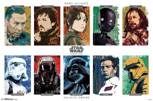 "Star Wars Rogue One ""Grid"" Official Poster - Trends 2016"